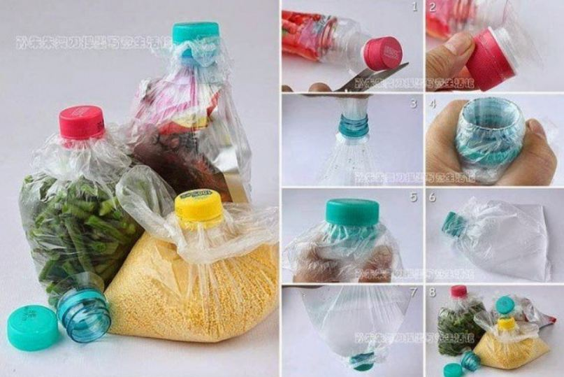 Làm túi đựng ngũ cốc từ chai nhựa phế liệu