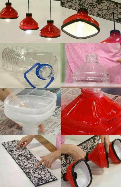 Chao đèn từ chai nhựa phế liệu