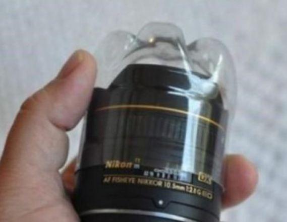 Chai nhựa phế liệu để bảo vệ ống kính máy ảnh