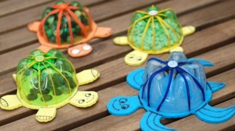 Con rùa bằng chai nhựa cũ phế liệu