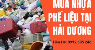 Mua Nhựa Phế Liệu Giá Cao tại Hải Dương