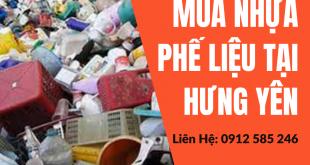Thu mua, thanh lý nhựa phế liệu tại Hưng Yên