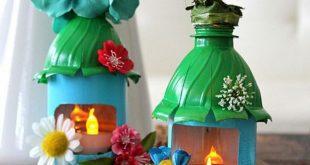 Làm đèn chơi trung thu từ chai nhựa