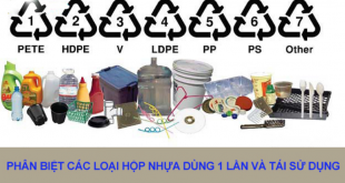 Phân biệt các loại nhựa an toàn và không an toàn